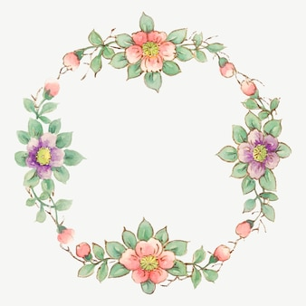 Vintage floral frame vector, remixed von noritake factory china porzellan geschirr design