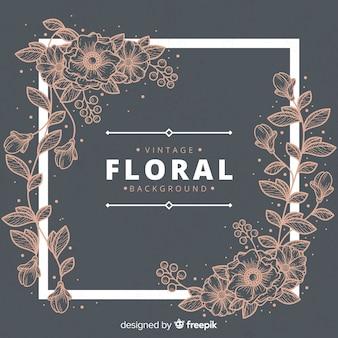 Vintage floral hintergrund