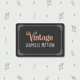 Vintage floral nahtlose muster premium-vektor