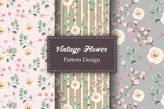 Vintage floral nahtlose musterung