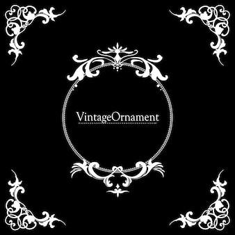 Vintage flourish ornament rahmen vektor