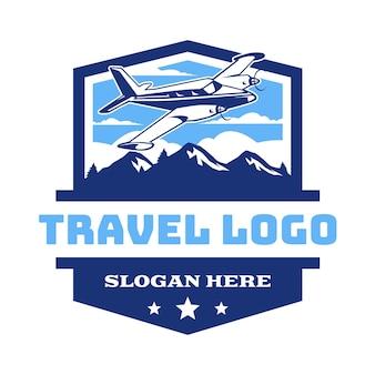 Vintage flugzeug luftfahrt abzeichen logo