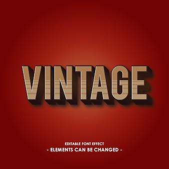 Vintage font-effekt