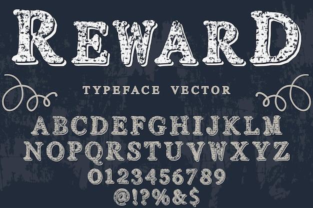 Vintage font label design belohnung