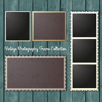 Vintage-fotografie frames collection