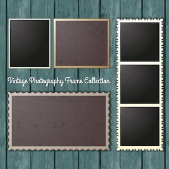 Vintage-fotografie frames collection
