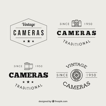 Vintage-fotografie logos gesetzt
