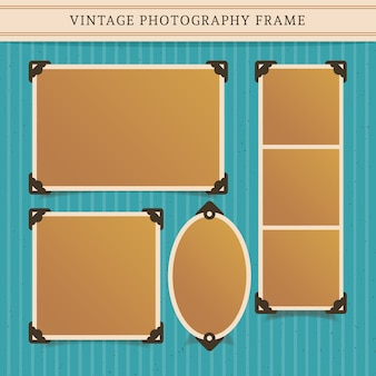 Vintage-fotografie rahmen