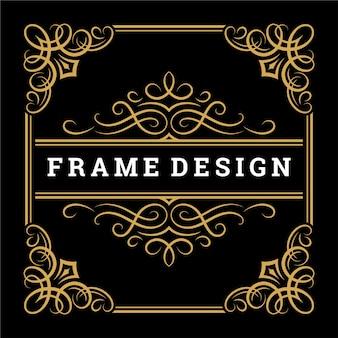 Vintage frame border ornament und vignetten wirbelt dekoration mit teiler-vorlage-vektor-illustration. viktorianische grenze für grußkarten oder hochzeitseinladungen anderes design und platz für text.