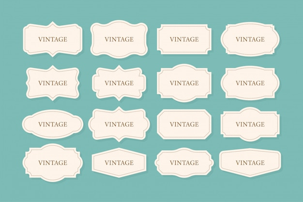 Vintage frames set, clipart-bundle. retro kollektion für dekorative. rahmen retro kollektion für dekorative. illustration.