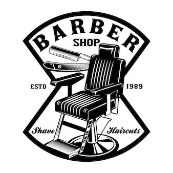 Vintage friseurstuhl emblem