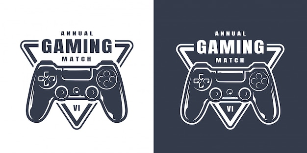 Vintage game controller illustration