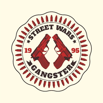 Vintage gangster mafia logo