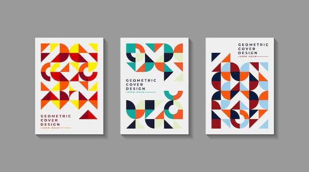Vintage geometrische art umfasst