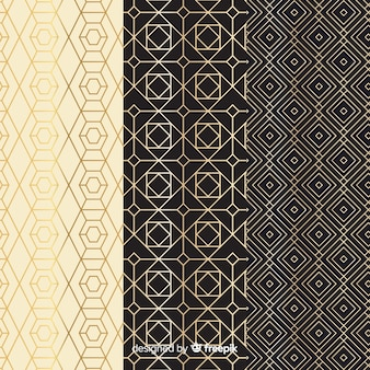 Vintage geometrische luxus kollektion muster