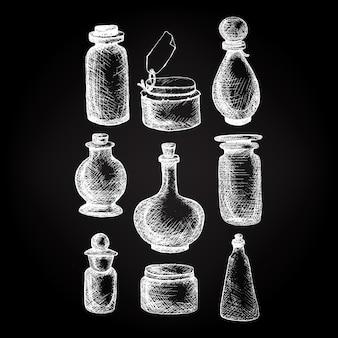Vintage gläser und flaschen