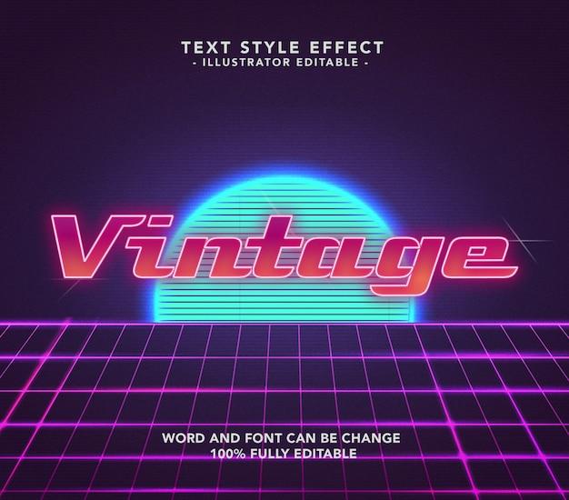 Vintage glow font