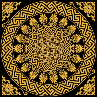 Vintage gold griechischen ornament mäander