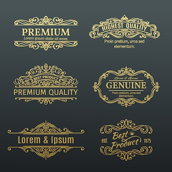 Vintage golden s etiketten rahmen.