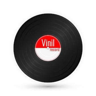 Vintage grammophonscheibe lokalisiert auf weiß