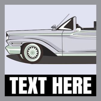 Vintage graues auto vorlage