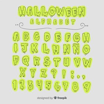 Vintage halloween-alphabet
