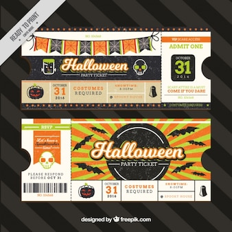 Vintage halloween-karten