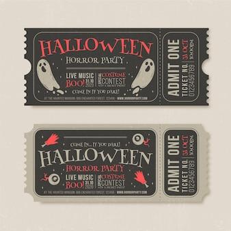 Vintage halloween tickets