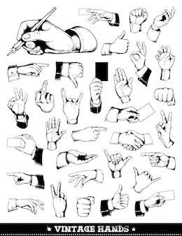 Vintage Hände Sammlung