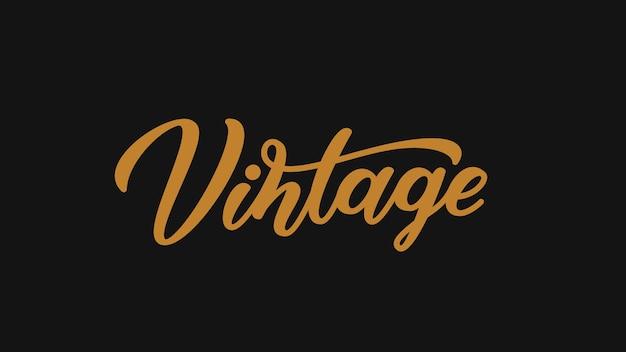 Vintage handgezeichnete beschriftung