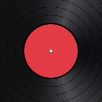 Vintage-hintergrund mit roter vinylscheibe