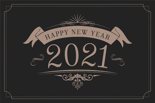 Vintage hintergrund neues jahr 2021