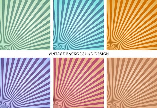 Vintage hintergrund sammlung