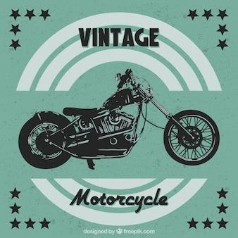 Vintage-hintergrund von motorrad mit sternen