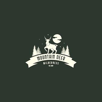 Vintage hirsch logo