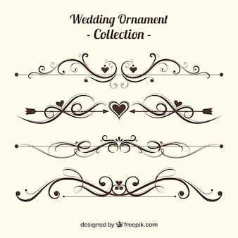Vintage Hochzeit Ornament Sammlung