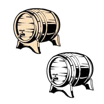 Vintage holzfass bier oder whisky