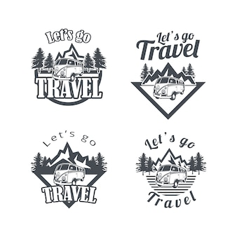 Vintage illustration der reise