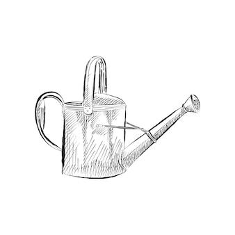 Vintage illustration einer gießkanne