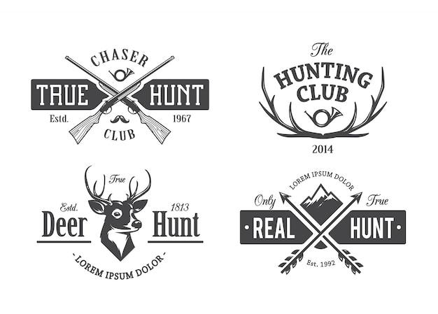 Vintage jagd-embleme
