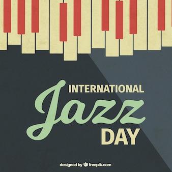 Vintage-jazz-hintergrund mit klaviertasten