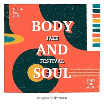 Vintage jazztageshintergrund der weinlese