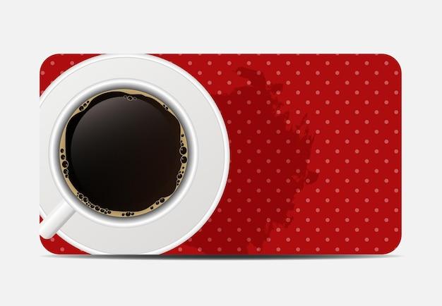 Vintage kaffee-geschenk-karten-illustration.