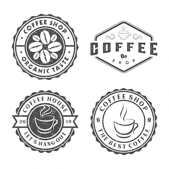 Vintage kaffee-logo