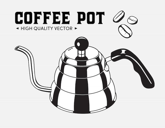 Vintage kaffeekanne wasserkocher
