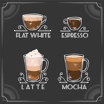 Vintage kaffeesorten