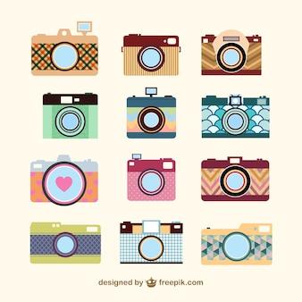 Vintage-kamera-set-vorlage