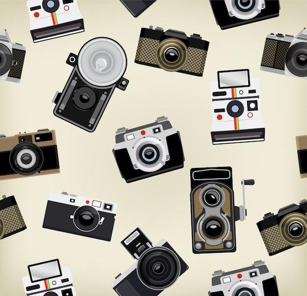 Vintage kameras muster design