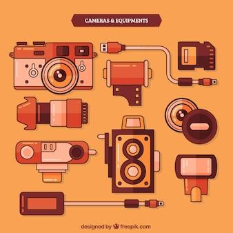 Vintage-kameras und ausrüstung