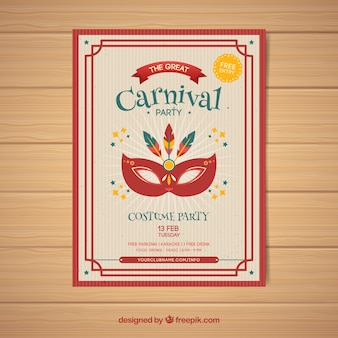 Vintage karneval party flyer / poster vorlage